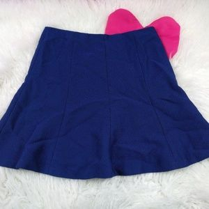 @ Ann Taylor sz 8 Blue Black Aline Skirt